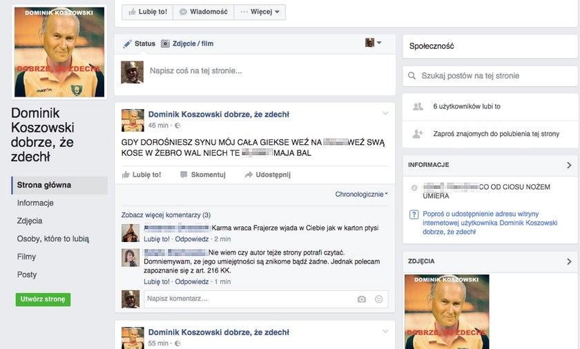 Dominik Koszowski zabity przez pseudokibiców. Teraz z niego kpią!
