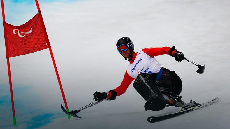 Igor Sikorski na trasie zimowych igrzysk paraolimpijskich w Soczi