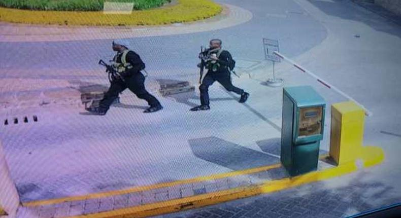 Al Shabaab gunmen at the Dusit complex