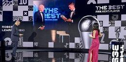 Tak Lewy odbierał nagrodę dla najlepszego piłkarza świata