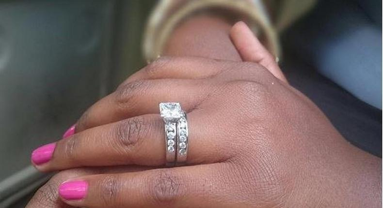 Cece Sagini's engagement ring