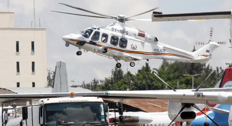 File image of a police chopper at the Wilson Airport