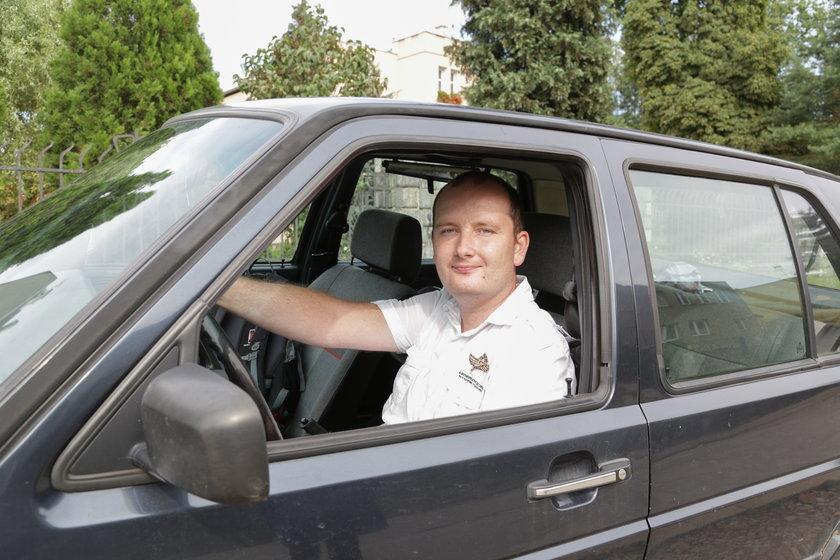 Roman Pachowicz (34 l.), kierowca z Wrocławia.