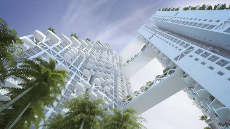 Budynek Sky Habitat - bo o nim mowa - położony ma być w centrum Singapuru. Ma mieć 38 pięter, na których rozplanowano 574 apartamenty.