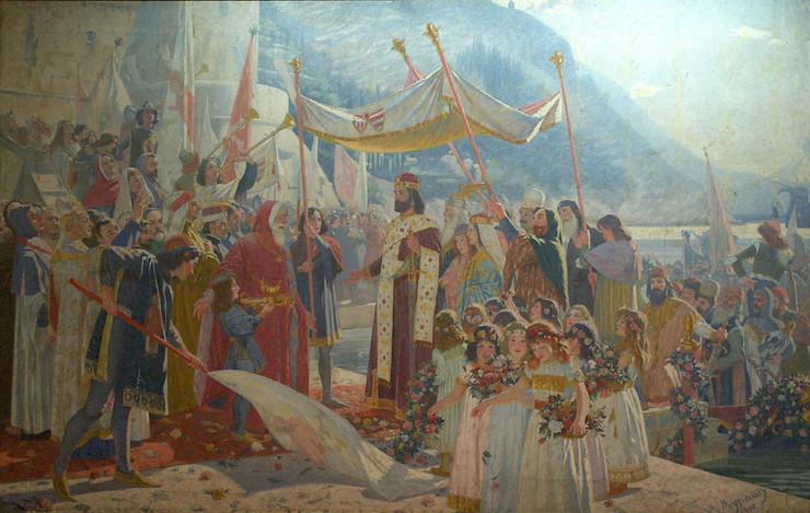 520826_marko-murat-ulazak-cara-dusana-u-dubrovnik-1900-reprodukcija-narodni-muzej