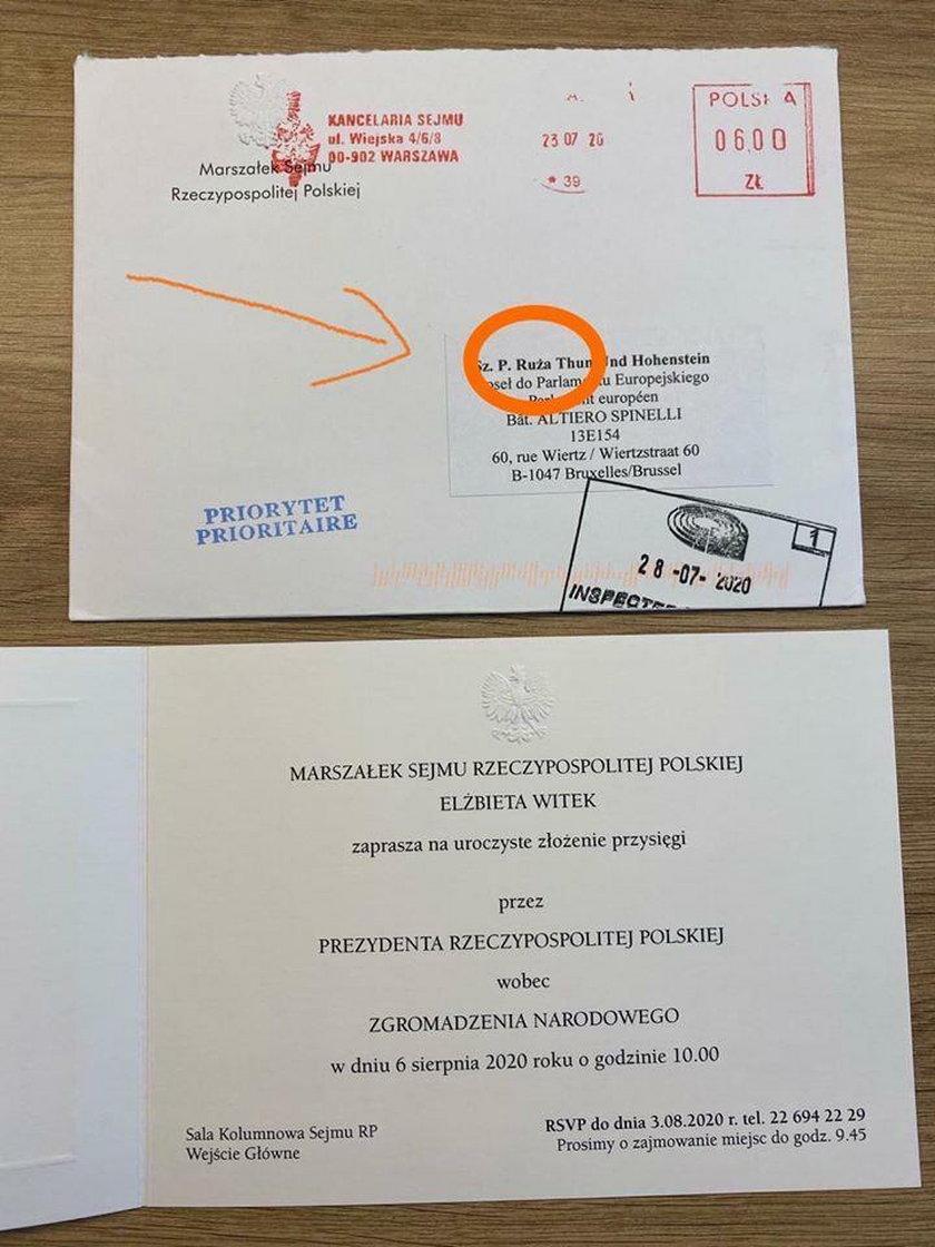 """Żenująca wpadka Kancelarii Sejmu. Zaprosili """"Rużę"""" Thun"""