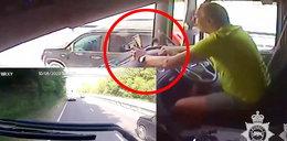 Trzy osoby ciężko ranne. Szokujące nagranie z kabiny kierowcy