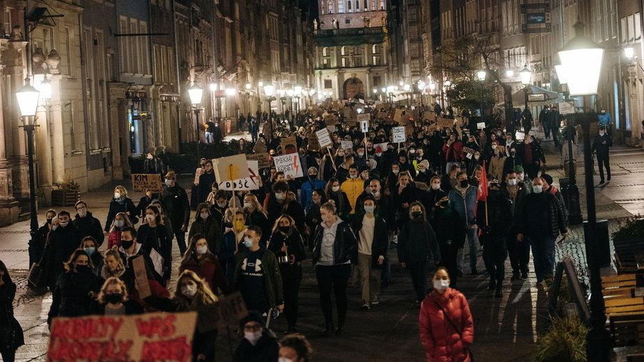 Wtorkowy protest w Gdańsku