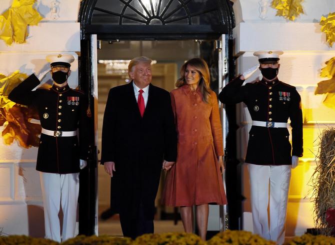Nasmejani predsednik i prva dama Amerike