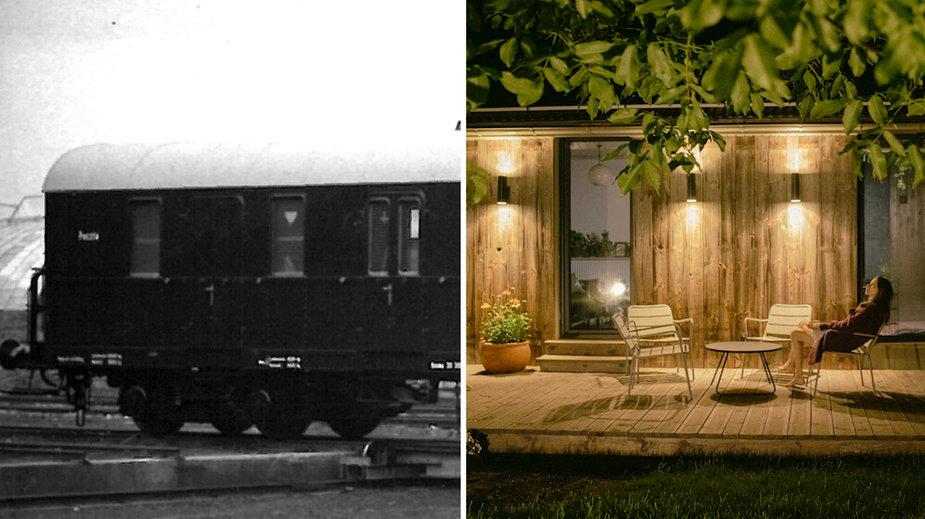Polacy kupili domek zrobiony ze starego wagonu pocztowego PKP