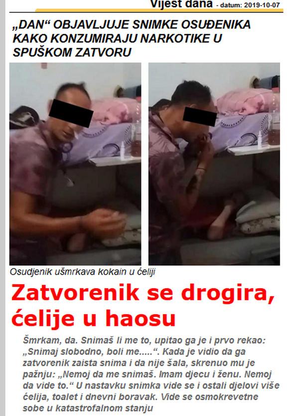 Jedan od tekstova koji je objavio crnogorski