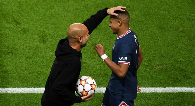 It wasn't to be for Manchester City and Pep Guardiola against Kylian Mbappe and his fellow PSG superstars Creator: Alain JOCARD