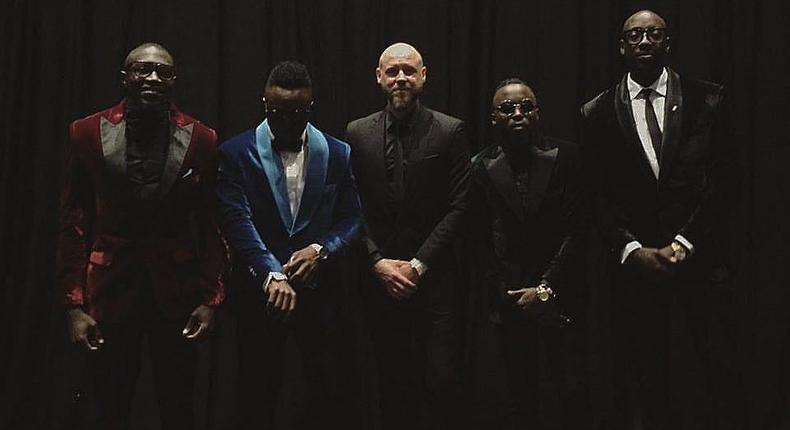 Sauti Sol's Former Manager Marek Fuchs and the Boys Band
