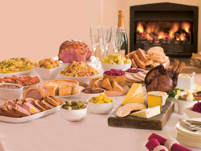 3597_stock-photo-boxing-day-buffet-lunch-christmas-tree-and-log-fire-shutterstock_14401318a