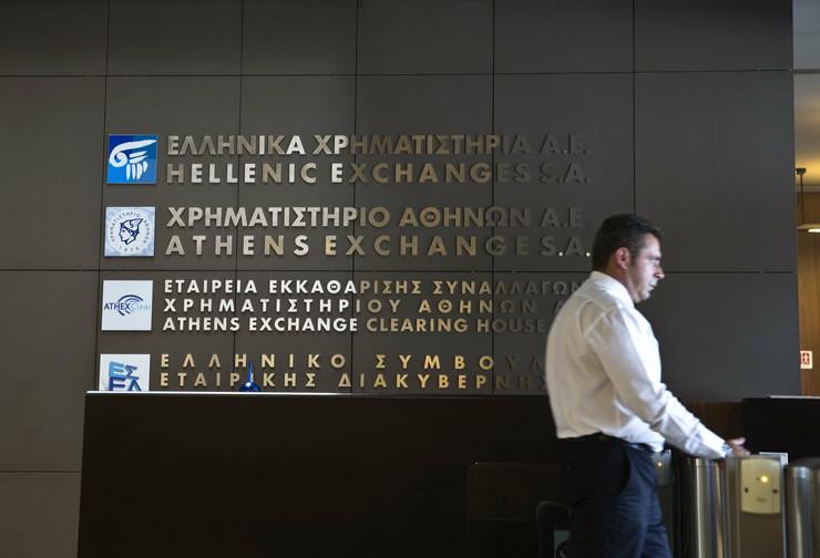 Glavni ulaz u zgradu Atinske berze