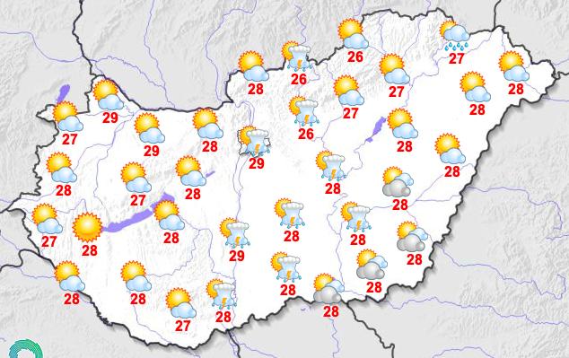 A délutáni hőmérséklet néhol megközelítheti a 30 Celsius-fokot is /Fotó: Országos Meteorológiai Szolgálat
