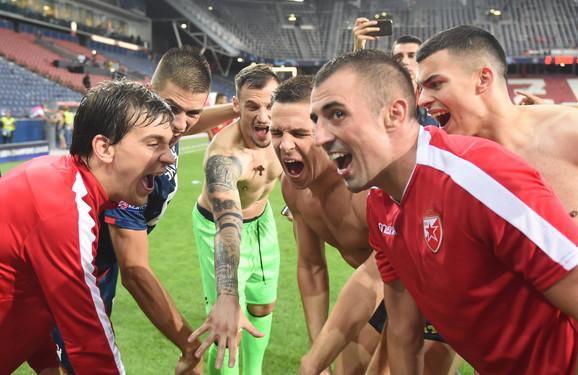 Slavlje nakon ulaska u Ligu šampiona