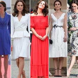 Księżna Kate podczas ostatnich wizyt oczarowała stylizacjami. W której prezentowała się najlepiej? (Sonda)