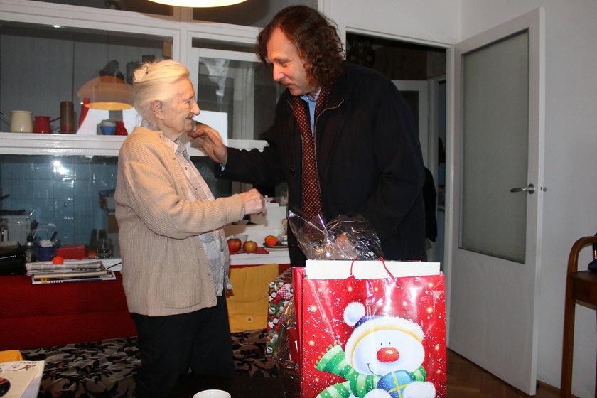 Jacek Karnowski, prezydent Sopotu z wizyta u pani Elżbiety Bar