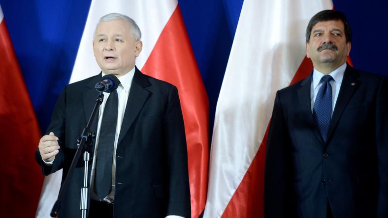 Jarosław Kaczyński i Janusz Śniadek