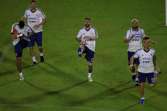 Lionel Mesi na treningu Argentine