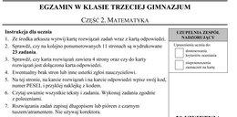Egzamin gimnazjalny 2017: matematyka. Arkusze i odpowiedzi