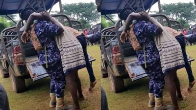 Married woman and illicit lover get stuck after sex until her husband arrives (Watch)