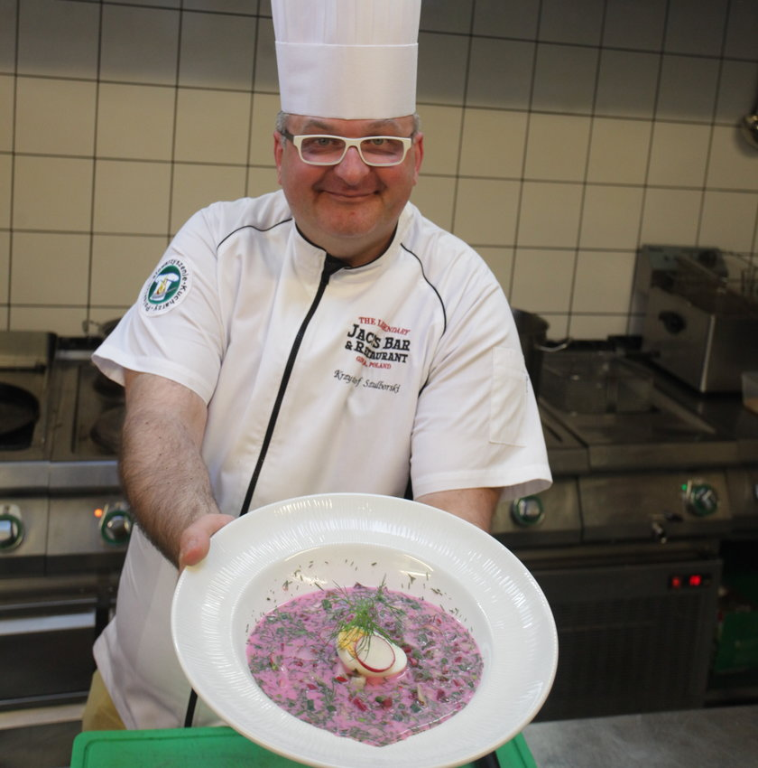 Kucharz Krzysztof Szulborski, właściciel restauracji Jack's Bar&Restaurant w Gdyni