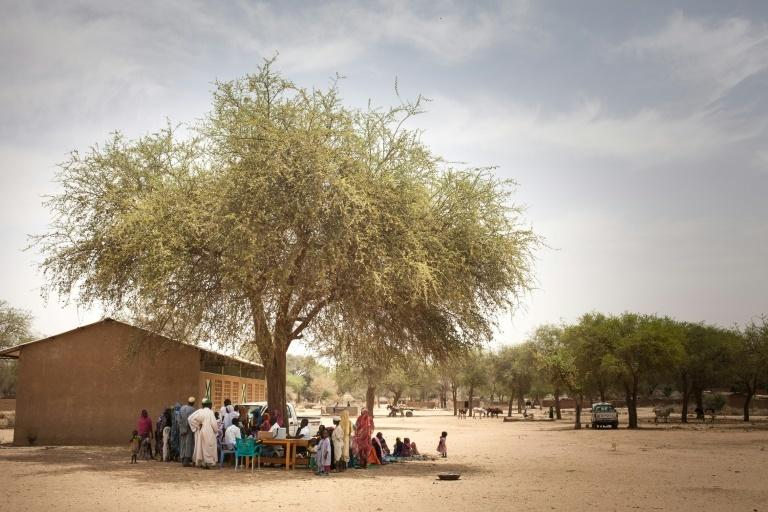 Waiting for the jab: A measles vaccine drive at Agang in the Ouaddai highlands of eastern Chad