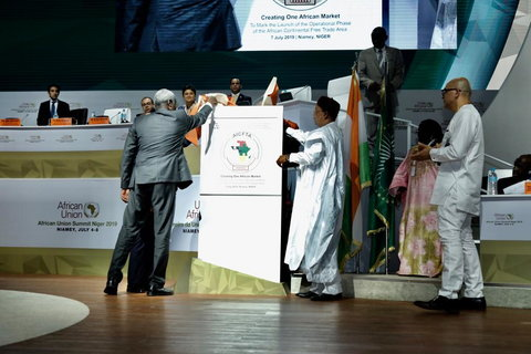 AU leaders kick off operational phase of the African Continental Free Trade Area #AfCFTA (Twitter/_AfricanUnion)