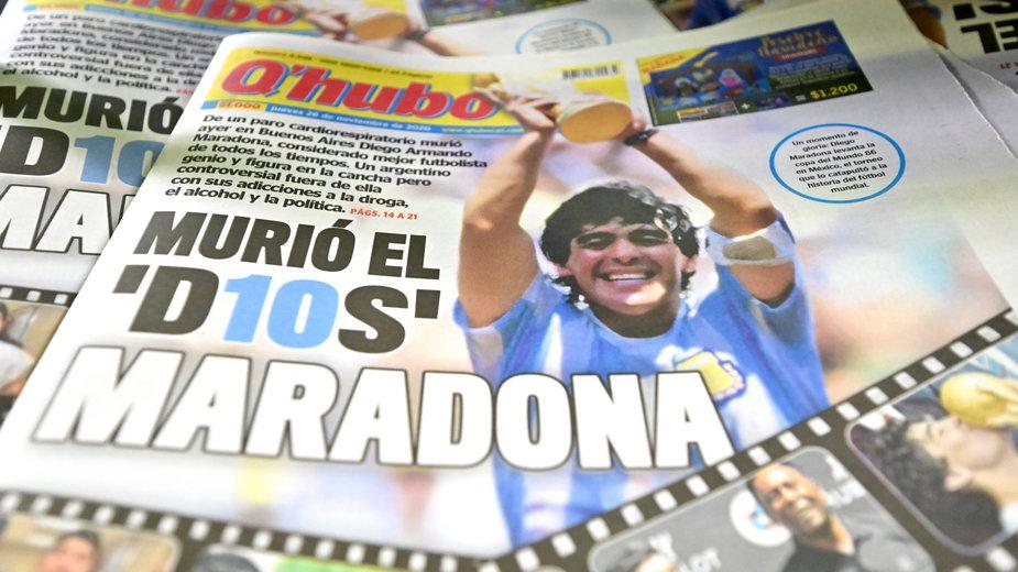 Diego Maradona na okładkach z całego świata
