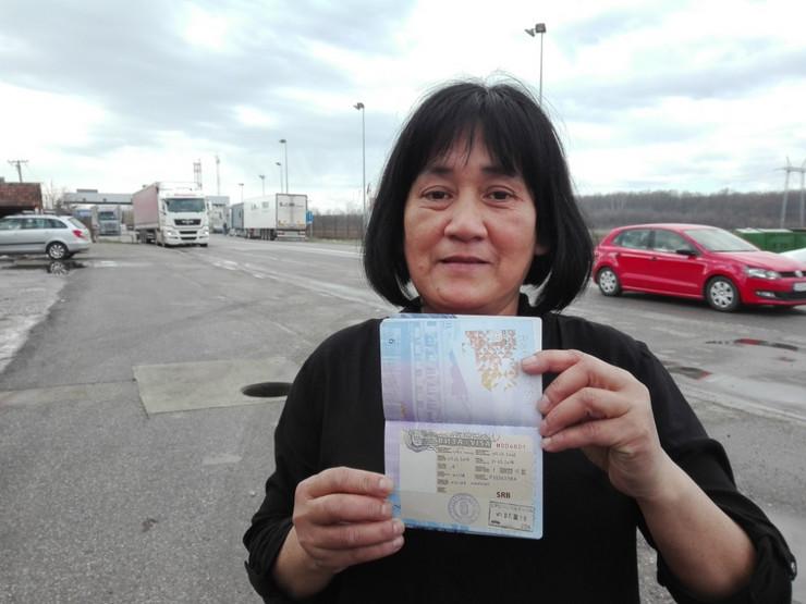 Valjevo, Kojic Marnit sa vizom u pasosu na granicnom prelazu