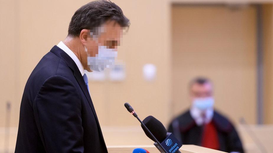 Mariusz Ś. przed poznańskim sądem