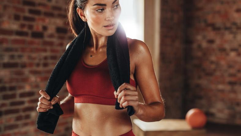 Kobieta po treningu