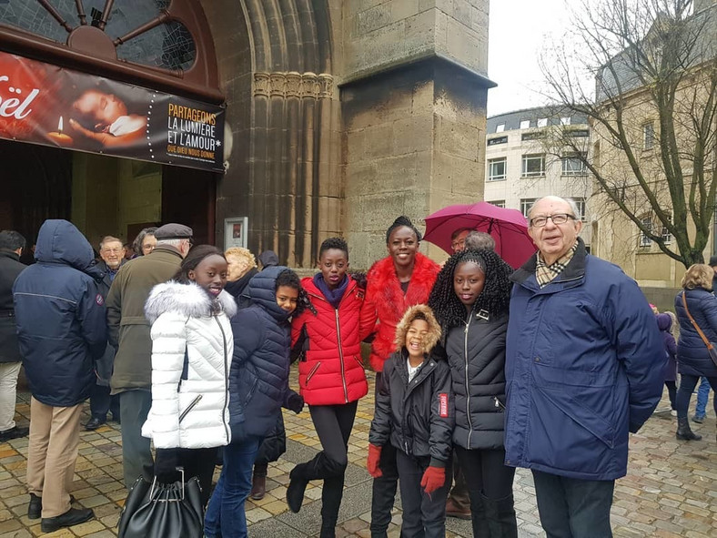 Singer Akothee with her Family in France (Instagram)