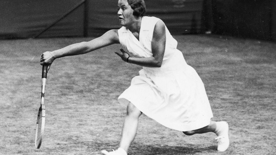 Jadwiga Jędrzejowska podczas gry Wielkiego Szlema Wimbledon 1932