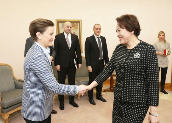 Današnji susret premijerka i nove kineske ambasadorke