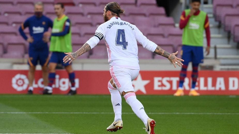 Sergio Ramos po golu z karnego