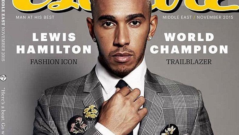 Lewis Hamilton on the cover of Esquire middle east