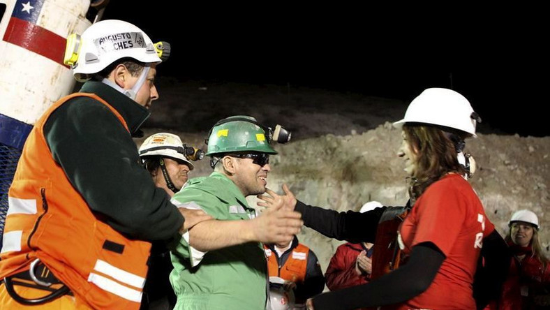 Greccy górnicy zaprosili chilijskich kolegów na wakacje