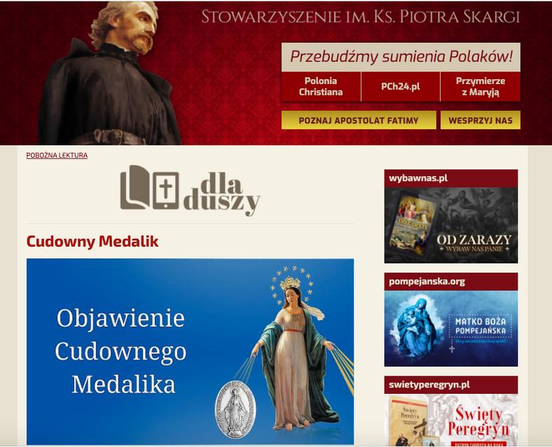 Kampania fundraisingowa Fundacji Instytut Piotra Skargi w internecie, fot.  zrzut ekranu ze strony piotrskarga.pl