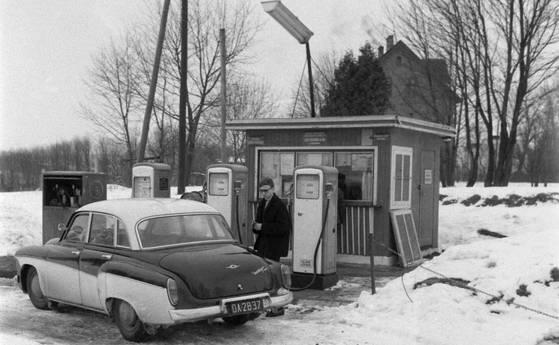Mrągowo 01.03.1964. Stacja CPN