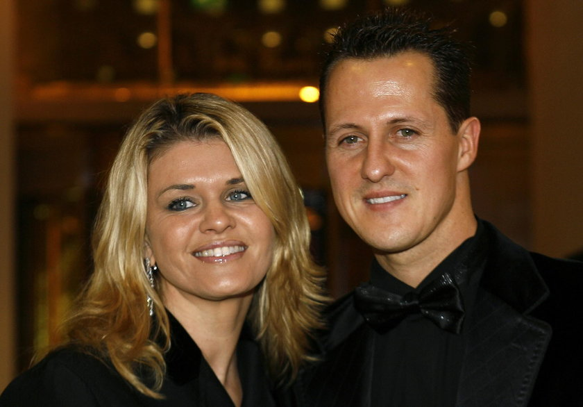 Michael Schumacher z żoną Corinną