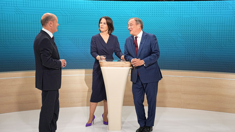 Olaf Scholz, Annalena Baerbock i Armin Laschet