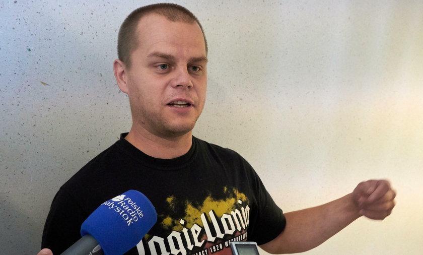 Protesty w Białymstoku. Szef kibiców Jagiellonii zabrał głos