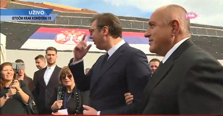 Aleksandar Vučić, Bojko Borisov, Koridor 10, Istočni krak, otvaranje