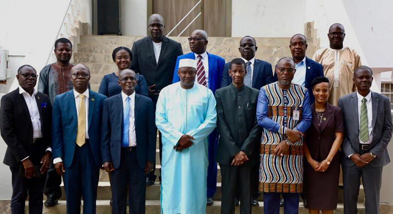 President of The Gambia and VC of KNUST with other delegates