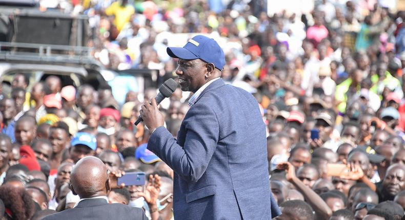 Deputy President William Ruto in Kakamega County over the weekend