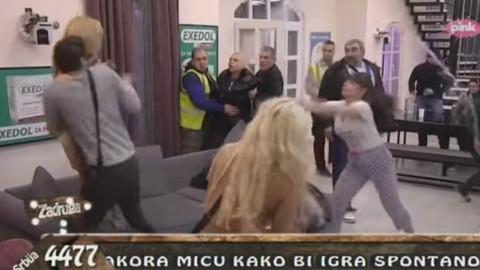 Miljana iz sve snage pogodila Jelenu Golubović flašom u glavu, ona se srušila na pod, zadrugari je u panici odveli na kapiju! VIDEO