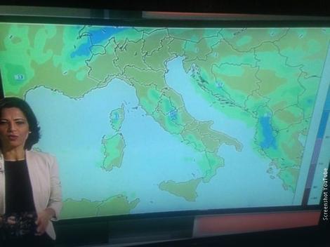 Kosovo na mapi Albanske televizije